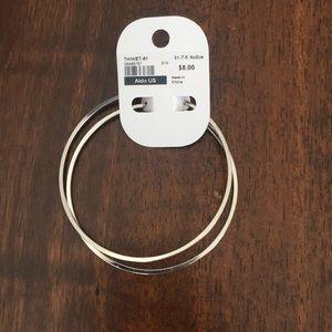 """Aldo Jewelry - Aldo silver hoop earrings 3"""""""